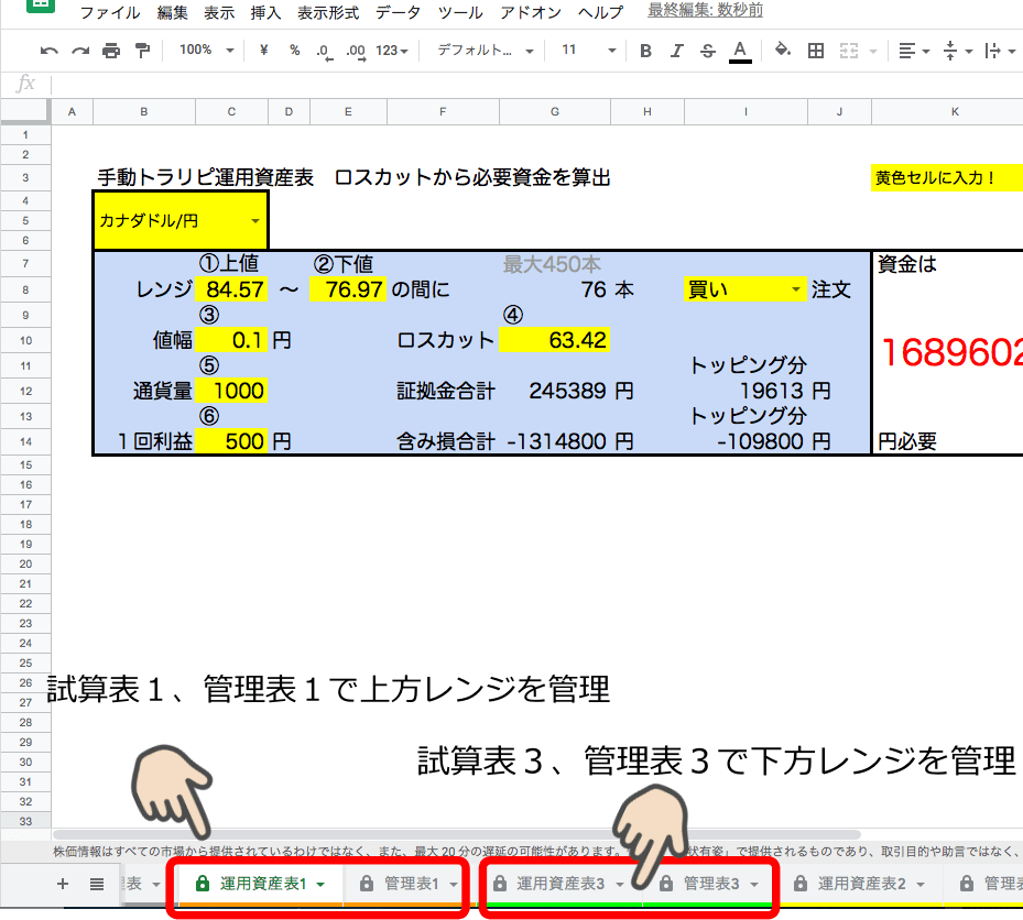 トラリピ管理ツールの使い方応用編1
