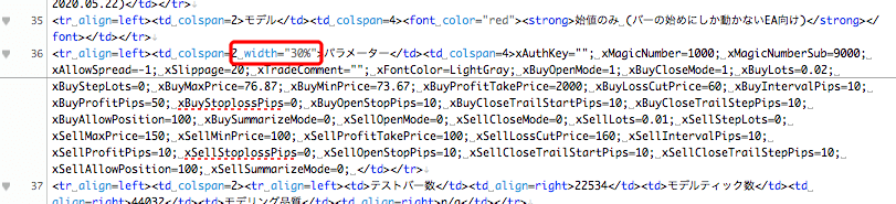 バックテスト html編集